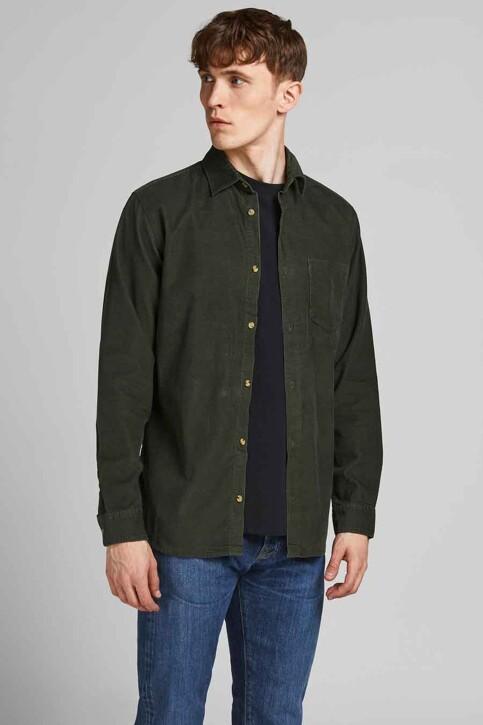 ORIGINALS BY JACK & JONES Hemden (lange mouwen) groen 12188929_FOREST NIGHT FI img1