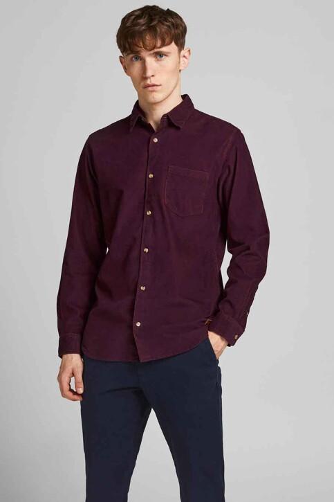 ORIGINALS BY JACK & JONES Hemden (lange mouwen) bordeaux 12188929_PORT ROYALE FIT img1