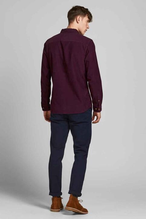 ORIGINALS BY JACK & JONES Hemden (lange mouwen) bordeaux 12188929_PORT ROYALE FIT img2