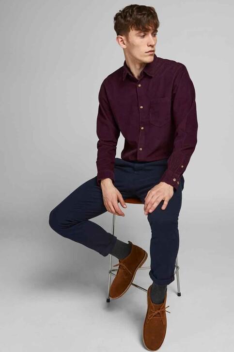 ORIGINALS BY JACK & JONES Hemden (lange mouwen) bordeaux 12188929_PORT ROYALE FIT img5