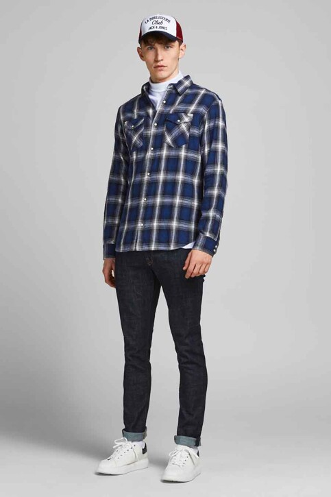 PREMIUM BLUE by JACK & JONES Hemden (lange mouwen) blauw 12188946_NAVY BLAZER CHE img5