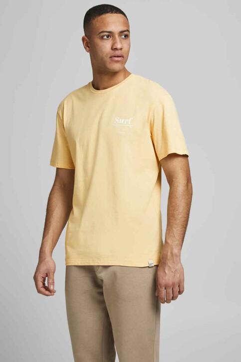 ORIGINALS BY JACK & JONES T-shirts (korte mouwen) geel 12188950_SAHARA SUN RELA img1