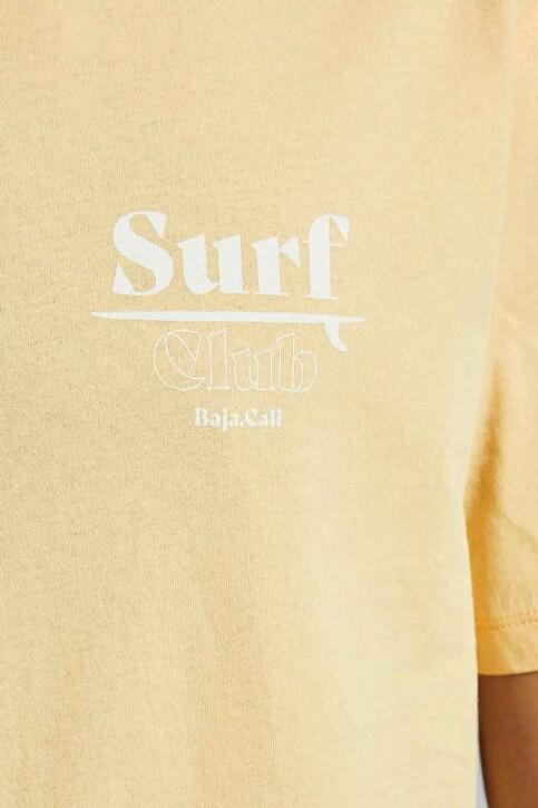 ORIGINALS BY JACK & JONES T-shirts (korte mouwen) geel 12188950_SAHARA SUN RELA img3