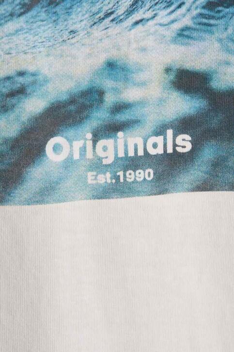 ORIGINALS BY JACK & JONES T-shirts (korte mouwen) wit 12189032_CLOUD DANCER RE img2