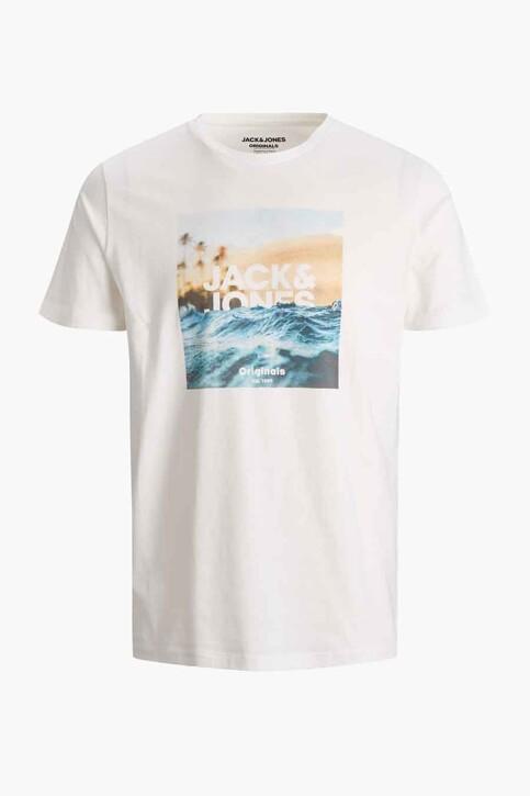 ORIGINALS BY JACK & JONES T-shirts (korte mouwen) wit 12189032_CLOUD DANCER RE img3