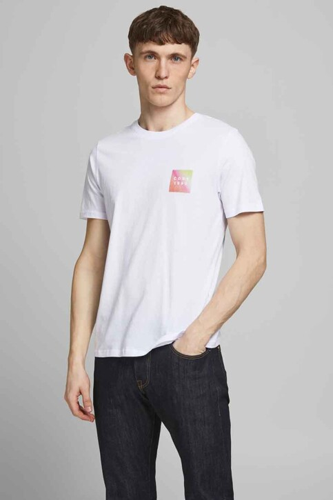 CORE BY JACK & JONES T-shirts (korte mouwen) wit 12189209_WHITE SLIM img1