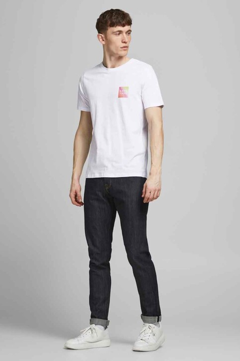 CORE BY JACK & JONES T-shirts (korte mouwen) wit 12189209_WHITE SLIM img2