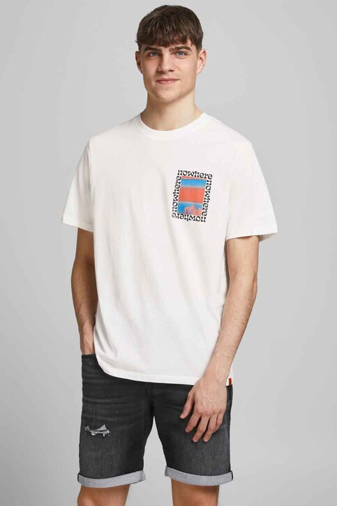 ORIGINALS BY JACK & JONES T-shirts (korte mouwen) wit 12189726_CLOUD DANCER OV img2