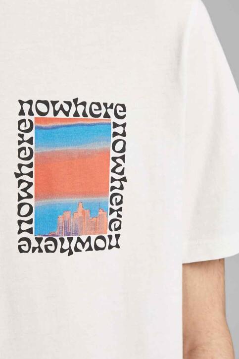 ORIGINALS BY JACK & JONES T-shirts (korte mouwen) wit 12189726_CLOUD DANCER OV img4