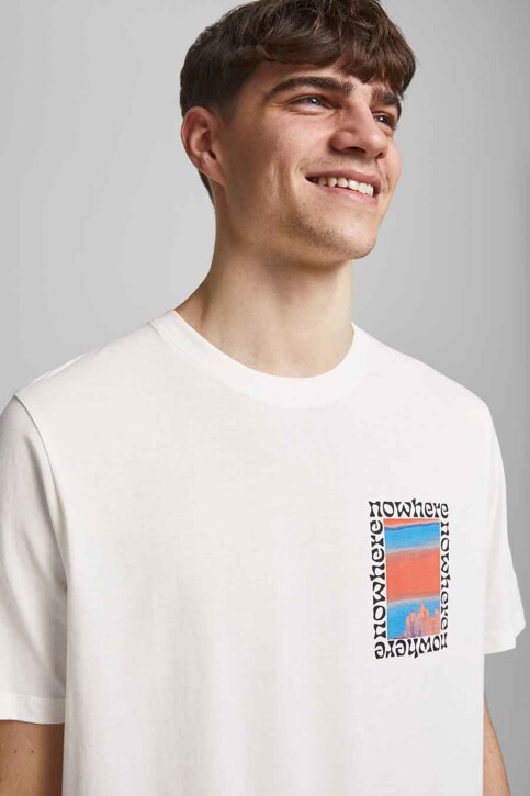 ORIGINALS BY JACK & JONES T-shirts (korte mouwen) wit 12189726_CLOUD DANCER OV img6