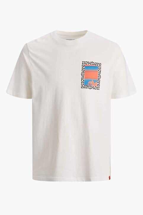 ORIGINALS BY JACK & JONES T-shirts (korte mouwen) wit 12189726_CLOUD DANCER OV img7