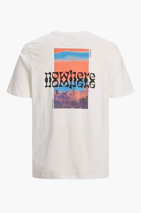 ORIGINALS BY JACK & JONES T-shirts (korte mouwen) wit 12189726_CLOUD DANCER OV img8