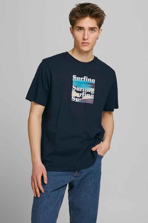 ORIGINALS BY JACK & JONES T-shirts (korte mouwen) blauw 12189726_NAVY BLAZER OVE img1