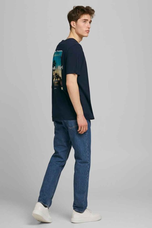 ORIGINALS BY JACK & JONES T-shirts (korte mouwen) blauw 12189726_NAVY BLAZER OVE img2