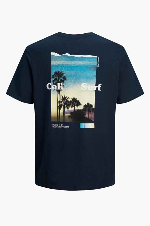 ORIGINALS BY JACK & JONES T-shirts (korte mouwen) blauw 12189726_NAVY BLAZER OVE img8