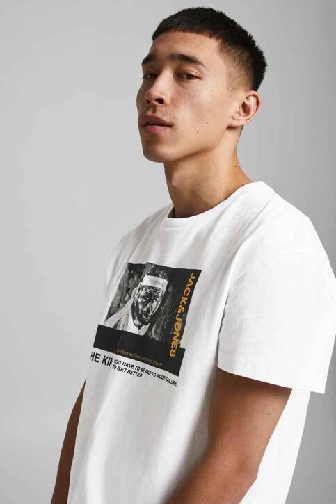 CORE BY JACK & JONES T-shirts (korte mouwen) wit 12189735_WHITE RELAXED img3