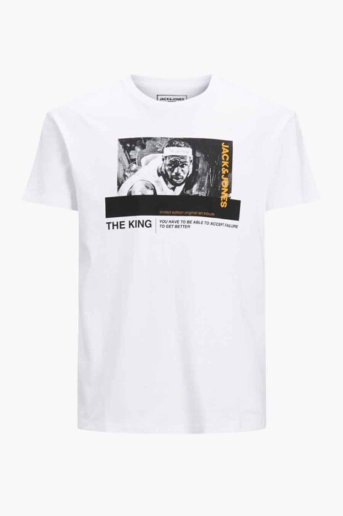 CORE BY JACK & JONES T-shirts (korte mouwen) wit 12189735_WHITE RELAXED img6