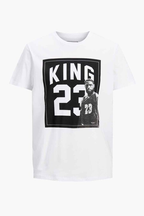CORE BY JACK & JONES T-shirts (korte mouwen) wit 12189735_WHITE RELAXED img7
