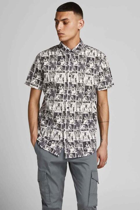 CORE BY JACK & JONES Hemden (korte mouwen) zwart 12189759_BLACK img1