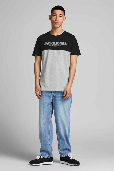 CORE BY JACK & JONES T-shirts (korte mouwen) grijs 12190452_BLACK WHITEGRIF img2