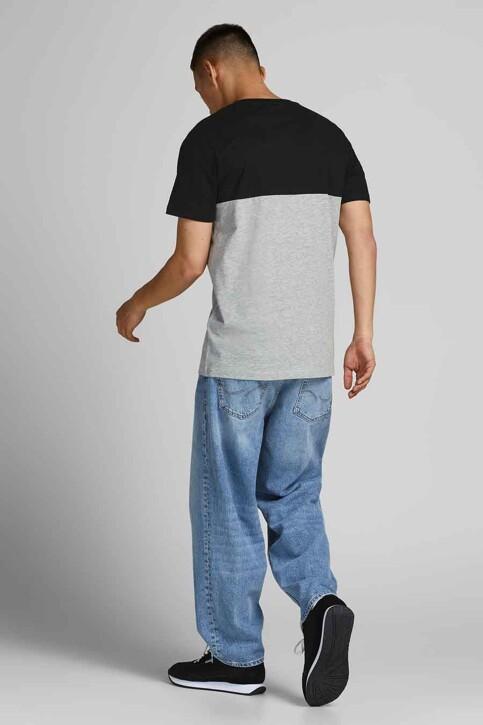 CORE BY JACK & JONES T-shirts (korte mouwen) grijs 12190452_BLACK WHITEGRIF img3