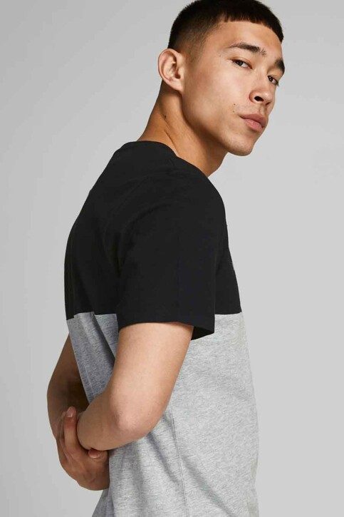 CORE BY JACK & JONES T-shirts (korte mouwen) grijs 12190452_BLACK WHITEGRIF img4