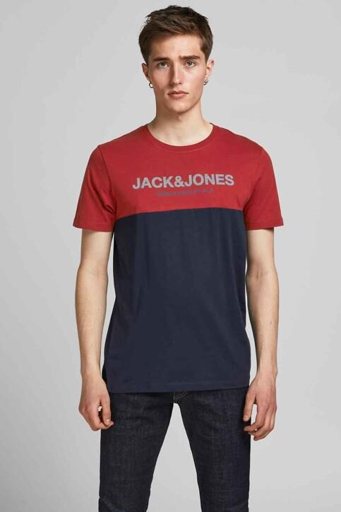 CORE BY JACK & JONES T-shirts (korte mouwen) rood 12190452_RED DAHLIA WHIT img1