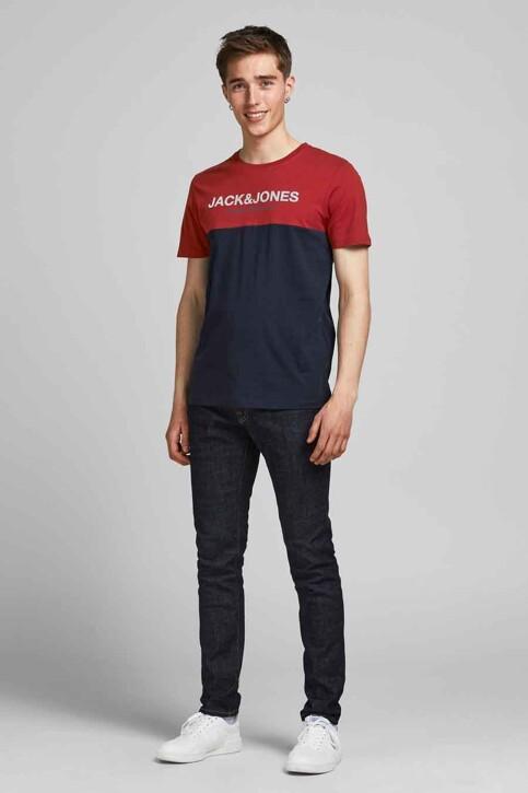 CORE BY JACK & JONES T-shirts (korte mouwen) rood 12190452_RED DAHLIA WHIT img2