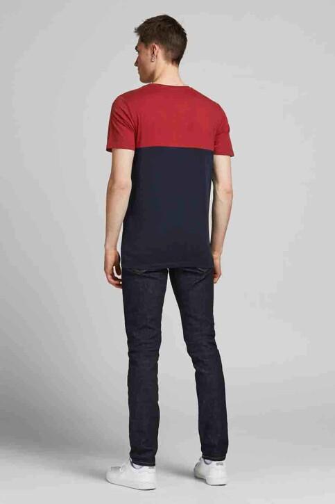 CORE BY JACK & JONES T-shirts (korte mouwen) rood 12190452_RED DAHLIA WHIT img3