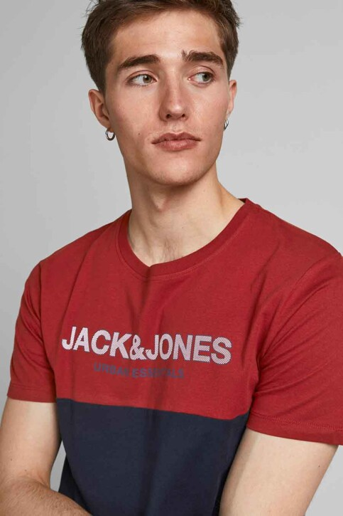 CORE BY JACK & JONES T-shirts (korte mouwen) rood 12190452_RED DAHLIA WHIT img4