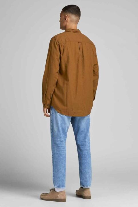 ORIGINALS BY JACK & JONES Chemises (manches longues) brun 12191173_RUBBER img3