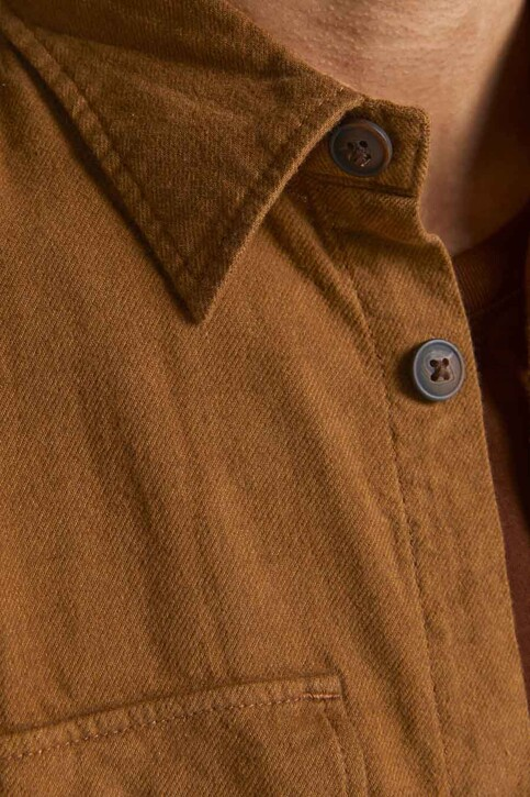 ORIGINALS BY JACK & JONES Chemises (manches longues) brun 12191173_RUBBER img5