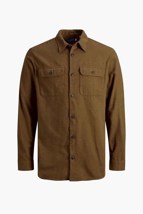 ORIGINALS BY JACK & JONES Chemises (manches longues) brun 12191173_RUBBER img8