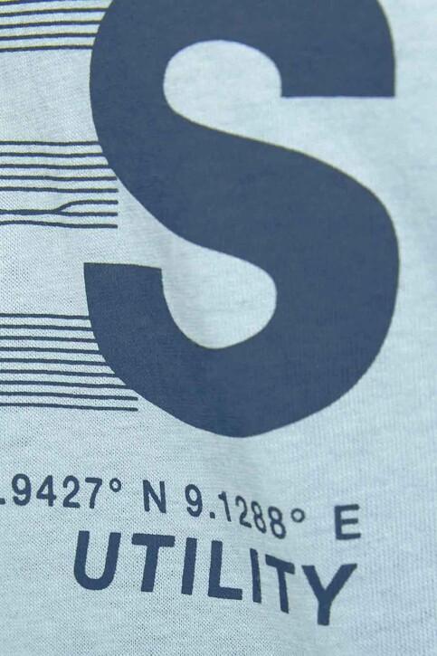 CORE BY JACK & JONES T-shirts (korte mouwen) blauw 12191974_DUSTY BLUE SLIM img3