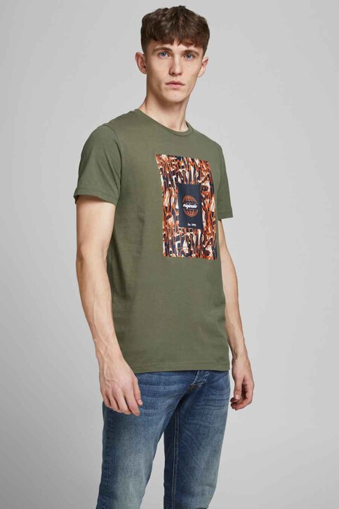 ORIGINALS BY JACK & JONES T-shirts (korte mouwen) groen 12192586_DUSTY OLIVE img2
