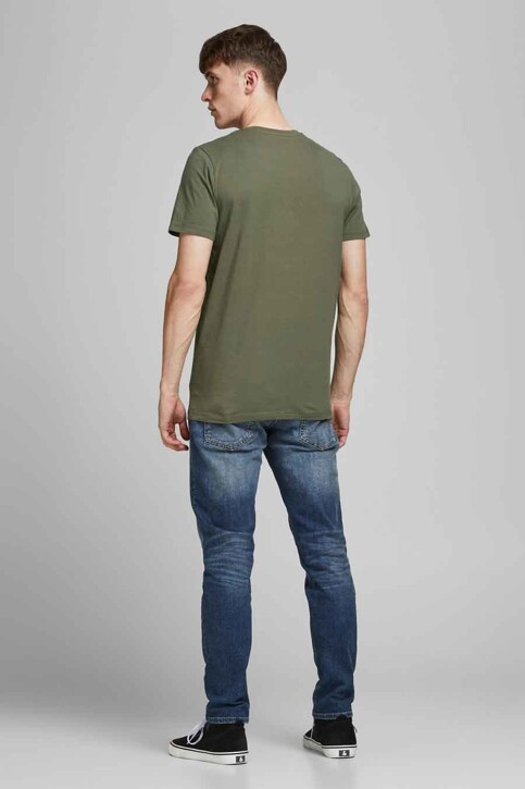 ORIGINALS BY JACK & JONES T-shirts (korte mouwen) groen 12192586_DUSTY OLIVE img3