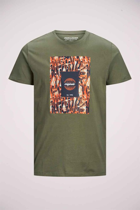 ORIGINALS BY JACK & JONES T-shirts (korte mouwen) groen 12192586_DUSTY OLIVE img7