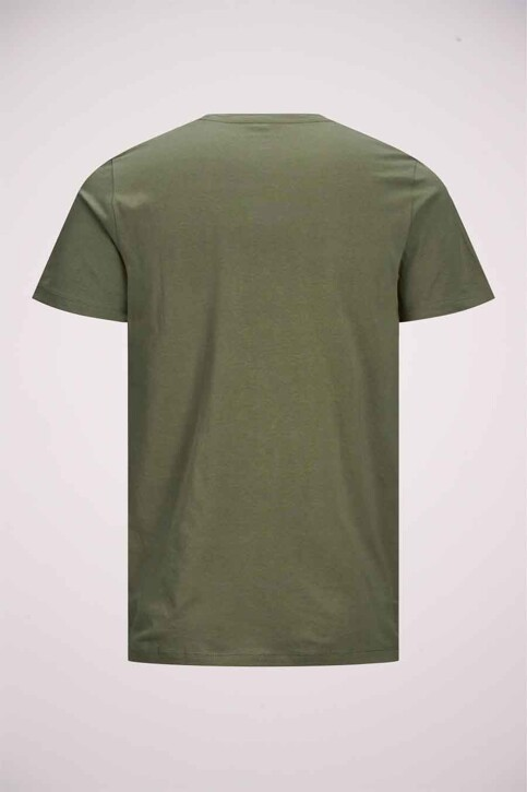 ORIGINALS BY JACK & JONES T-shirts (korte mouwen) groen 12192586_DUSTY OLIVE img8
