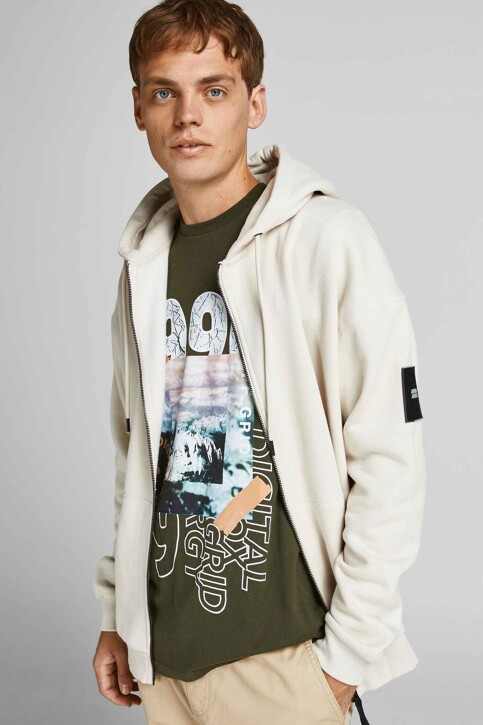 CORE BY JACK & JONES T-shirts (korte mouwen) KHAKI 12192775_FOREST NIGHT img6