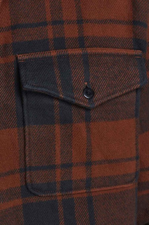 PREMIUM BLUE by JACK & JONES Hemden (lange mouwen) rood 12193438_CINNAMON img3