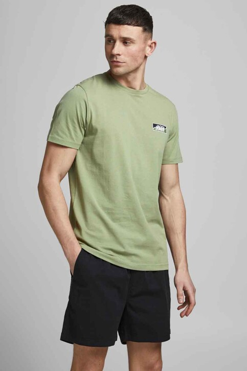 CORE BY JACK & JONES T-shirts (korte mouwen) groen 12193441_OIL GREEN SLIM img1
