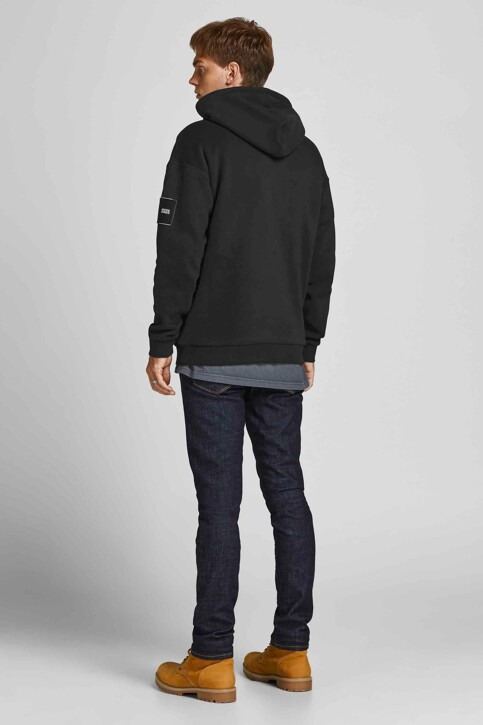 CORE BY JACK & JONES Sweaters met kap zwart 12193489_BLACK RELAXED img3