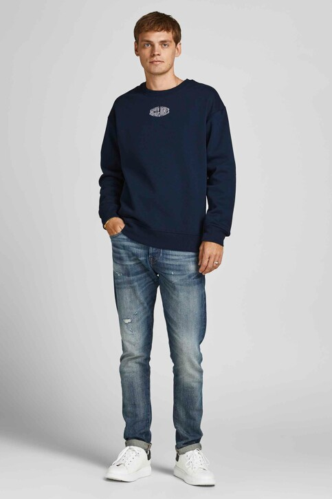 ORIGINALS BY JACK & JONES Sweaters met ronde hals blauw 12194083_NAVY BLAZER REL img1