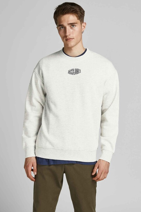 ORIGINALS BY JACK & JONES Sweaters met ronde hals wit 12194083_WHITE MELANGE R img1