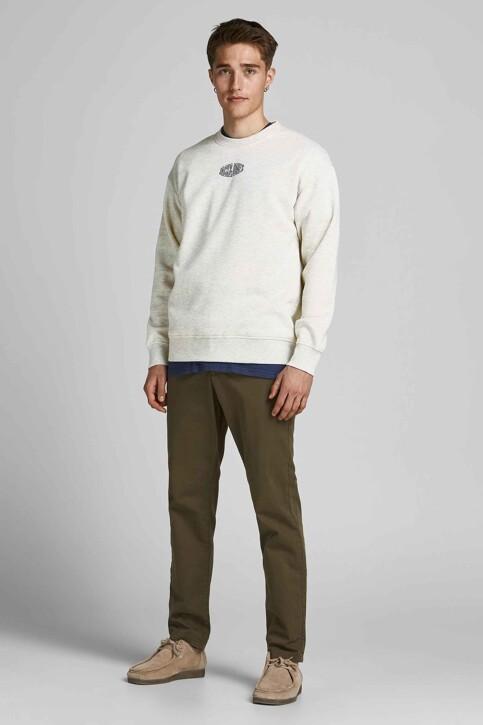 ORIGINALS BY JACK & JONES Sweaters met ronde hals wit 12194083_WHITE MELANGE R img2