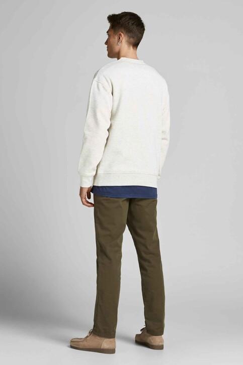 ORIGINALS BY JACK & JONES Sweaters met ronde hals wit 12194083_WHITE MELANGE R img3