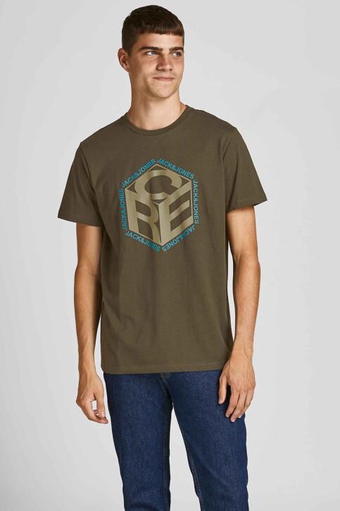 CORE BY JACK & JONES T-shirts (korte mouwen) KHAKI 12197443_FOREST NIGHT img1