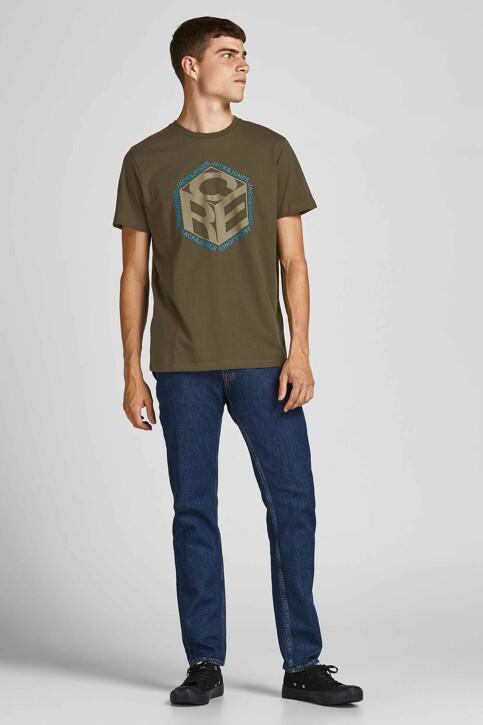 CORE BY JACK & JONES T-shirts (korte mouwen) KHAKI 12197443_FOREST NIGHT img6