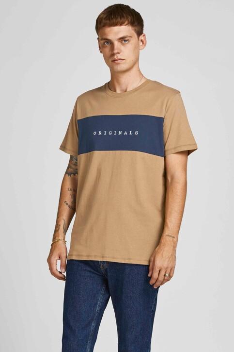 ORIGINALS BY JACK & JONES T-shirts (korte mouwen) beige 12198260_MALT BALL STAND img1