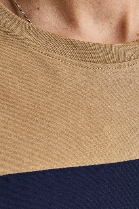 ORIGINALS BY JACK & JONES T-shirts (korte mouwen) beige 12198260_MALT BALL STAND img3
